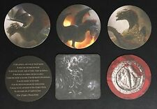 Ommegang Brewery Game of Thrones GoT LOT of 6 Coasters Dragons Three Eyed Valar