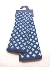 $95 TOMMY HILFIGER Mens GREEN WHITE BLUE FLORAL HANDKERCHIEF DRESS POCKET SQUARE