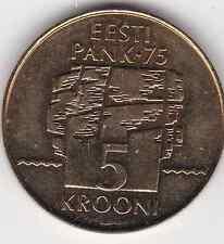 5 Kroon Estland 1994 75 Jahre Nationalbank Eesti Pank