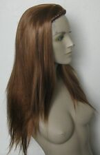 ginger red straight half head long hair wig headband hair piece fancy dress