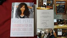 Signed Rosie Perez Handbook for an Unpredictable Life HC DJ 1/1 Book Actress PIC