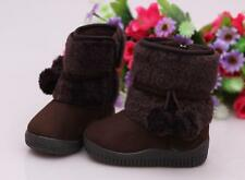 Fashion Baby Kid Girl Toddler Infant Winter Snow Keep Warm Crib Shoes Fur Boots