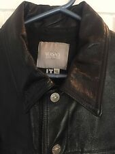 Versace Men's Leather Bomber Jacket