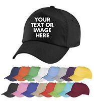 Personalised Embroidered Baseball Cap Custom Printed Hat Unisex