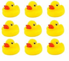 9 Yellow Mini Bathtime Rubber Duck Bath Squeaky Water Play Fun Kids,NEW
