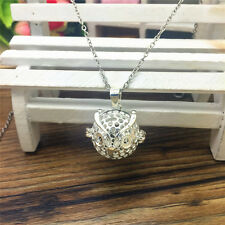 Perfume Fragrance Essential Oil Aromatherapy Diffuser cage Locket Necklace WT93