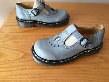 Vintage Dr Martens 8184 blue grey T Bar mary Jane sandals UK 4 EU 37 England