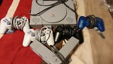 original Sony Playstation one, PS one console bundle with four controllers