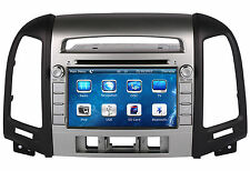 "7"" Touch Screen Car Radio iPod CD DVD Player GPS Navigation For Hyundai Santa FE"