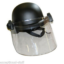 RIOT POLICE HELMET with FACE SHIELD VISOR {BRAND NEW}