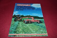Hesston 1014 1010 1090 1070 Haybine Mower Conditioner Dealer's Brochure DCPA5