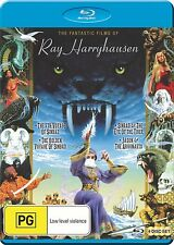 THE FANTASTIC FILMS OF RAY HARRYHAUSEN (4 disc)  -  Blu Ray - Region B for UK