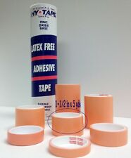 """Hy-Tape Pink Tape Medical Waterproof Surgical Tape 1.5"""" x 5 yd, Tube of 8 Rolls"""