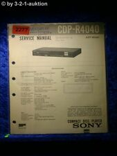 Sony Service Manual CDP R4040 CD Player (#2277)