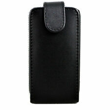 Black Skin Leather Vertical Flip Hard Case Cover For Samsung Galaxy S Duos S7562