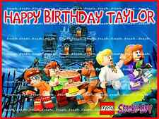 LEGO SCOOBY DOO: personalized Edible Image Cake Topper  FREE SHIPPING