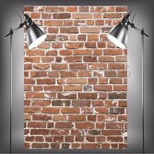 5x7FT Photographic Vinyl Background Worn Red Brick Wall For Studio Backdrop