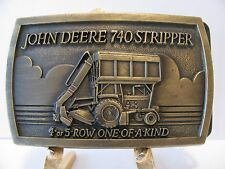 * John Deere 740 Cotton Stripper Belt Buckle 1984  Moline IL jd  4 or 5 Row