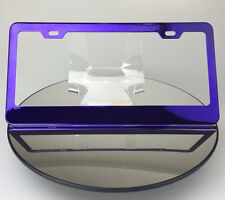 Powder Coated Candy Purple Frame Holder Stainless Steel License Plate Tesla Jeep