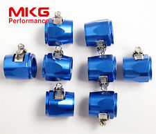 AN10-10AN Fuel Hose Line Clamp Finisher Adapter HEX Finishers HEX-10 8PCS Blue