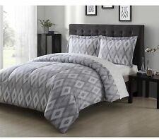 Home Bedroom Textured Diamond Print Microfiber Sleeping Comforter Set Full/Queen
