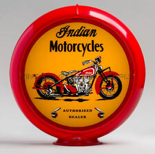 "Indian Motorcycle 13.5"" Gas Pump Globe w/ Red Plastic Body (G429)"