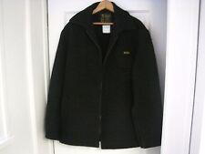 Vtg Men's Norwellan 34 oz Australian Bluey Black Waterproof Wool Coat Size L