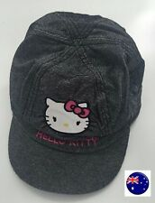 Girl Kids Children Grey Train Conductor Hello Kitty Golf Sun Hat Cap 6-12Years