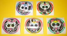 MEXiCAN Candy SUGAR SKULL Sticker Lot~Cute Animal Critter~Cat~Bunny~Dog~Fox~2.5""