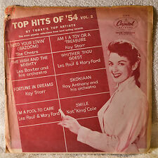 "Top Hits of 54 1954 Capitol 10"" LP Paper Picture Cover SLEEVE ONLY Kay Starr"