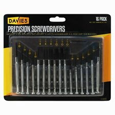 16pc Precision Screwdriver Set Fix Glasses Phones Watches Jewellers DW