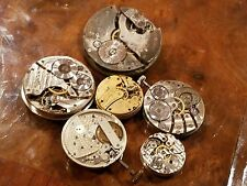 Lot of 6 Pocket Watch Movements