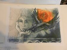 Icarus Lithograph Print by René Villiger Signed Numbered 297/600 (H1)