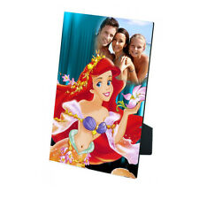 Personalised Photo Princess Ariel MDF Photo Panel 5'' x 7'' with Easel