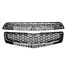 Front Upper Lower Grill Grille With Honey Comb Mesh For Chevy Malibu 2013