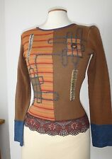 Magnifique haut top pull SAVE THE QUEEN Taille M  36 38  TBE