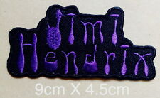 #988 Jimi Hendrix Guitar hero music Rock Metal sew iron on Patch  Embroidered