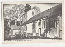 Church Of St Anthony Cartmel Fell Buckley Vintage Art Postcard 626a