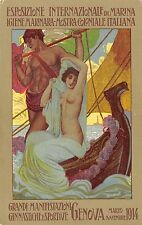 4962) GENOVA 1914 ESPOSIZIONE DI MARINA IGIENE E MOSTRA COLONIALE ILL. FAINI.