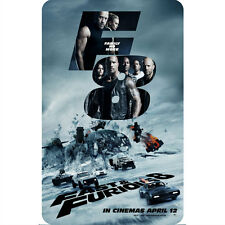 FAST AND FURIOUS 8 (F8) MOVIE POSTER FRIDGE MAGNET