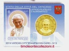 Vaticano 50 cent 2014  stamp&coincard 5