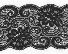 Black Rigid Lace Trimming 5mts 12cm Wide