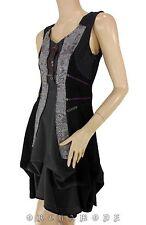 Robe Tunique C'FAIT POUR VOUS Taille 38 M 3 noir Graphique destruct. Rétro NEUF