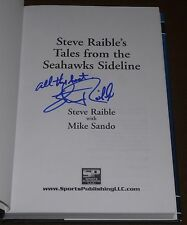 STEVE RAIBLE SIGNED BOOK TALES FROM THE SEAHAWKS SIDELINE HC/DJ ANNOUNCER