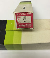 NEW Littelfuse Tracor LKS 100 Amp Renewable FUSE LINKS 600 VAC Pack of 10