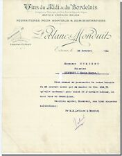 Letter - LEBLANC & MONDUIT Wines of / the Midi & of / the Bordeaux à Evreux 1911