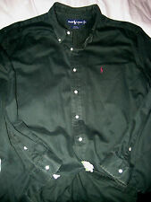 RALPH LAUREN CLASSIC BLAKE DESIGN WINTER COTTON EMBROIDERED PONY SHIRT-NICE- XL