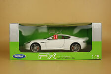 1/18 Welly FX Model Aston Martin DB9 Coupe WHITE COLOR MODEL