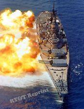 Photograph Navy Battleship Guns Firing  USS IOWA (BB-61)  8x10  1984