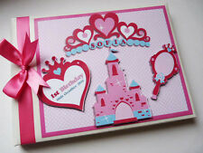 PERSONALISED PRINCESS/TIARAS/GIRLS /FIRST/1ST BIRTHDAY GUEST BOOK ANY DESIGN